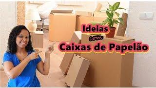 Ideias Surpreendentes de Artesanato usando caixa de papelão #repost