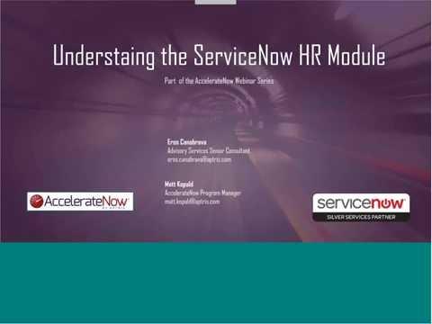 ServiceNow HR Module Deep Dive