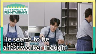 He seems to be a fast worker though(Stars' Top Recipe at Fun-Staurant EP.98-1) | KBS WORLD TV 211019
