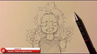 DENKİ KAMİNARİ ÇİZİMİ / Drawing - Boku no Hero Academia