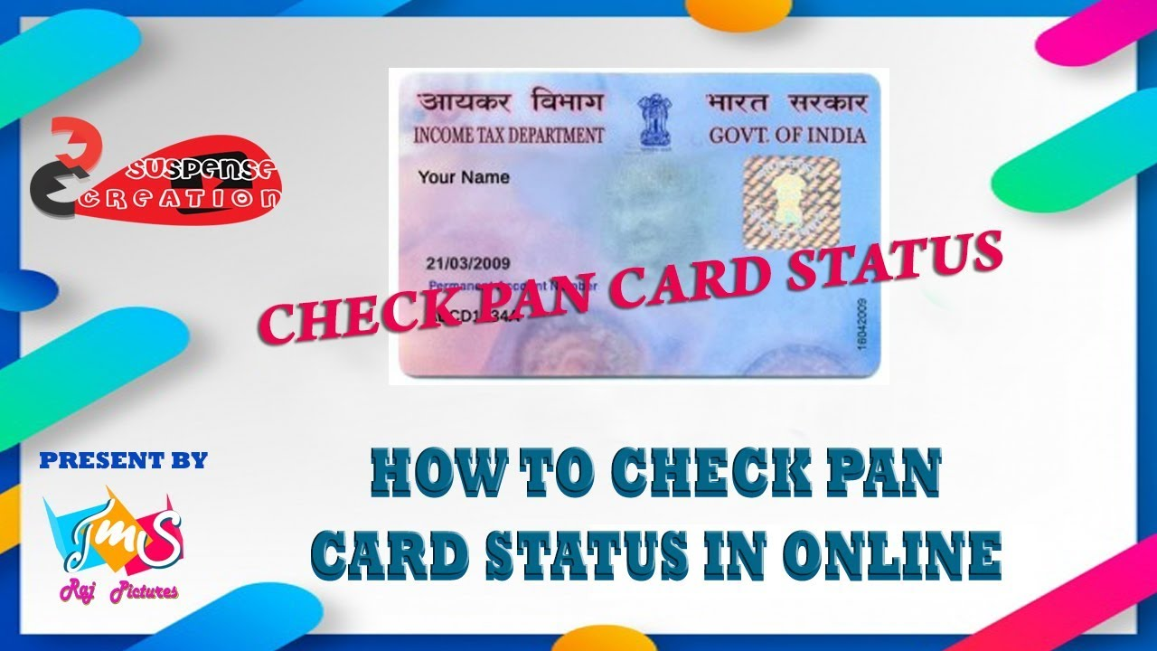 how to check pan card status in online  youtube