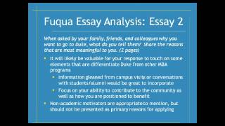 fuqua mba essays 2013