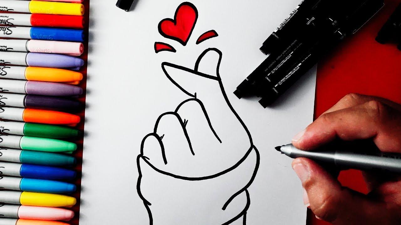 Como Desenhar Mao Tumblr Muito Facil Passo A Passo Youtube
