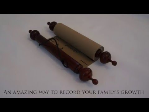 Growscroll - Growth Chart - Height Chart - Hand Made & includes marker and hook
