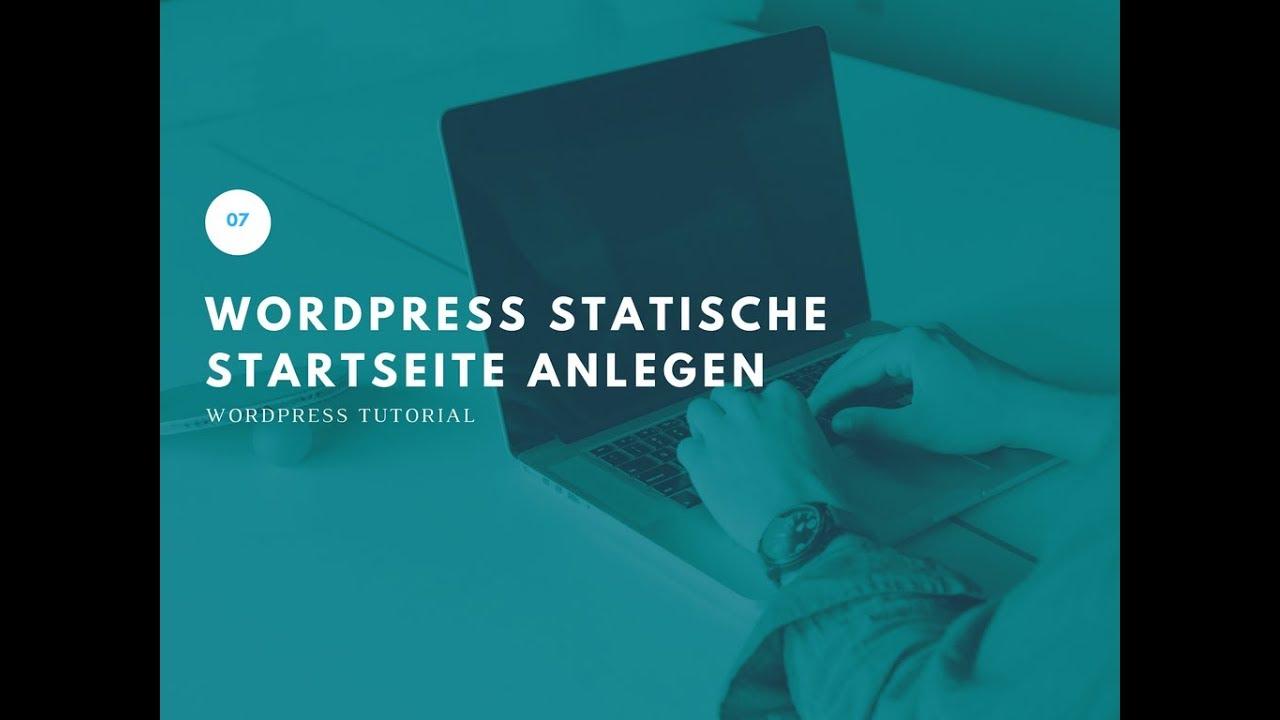 07 Wordpress Tutorial - Statische Startseite anlegen - YouTube
