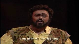 El elixir del amor, quanto é bella, quanto é cara!- Luciano Pavarotti, Subtitulado al Español