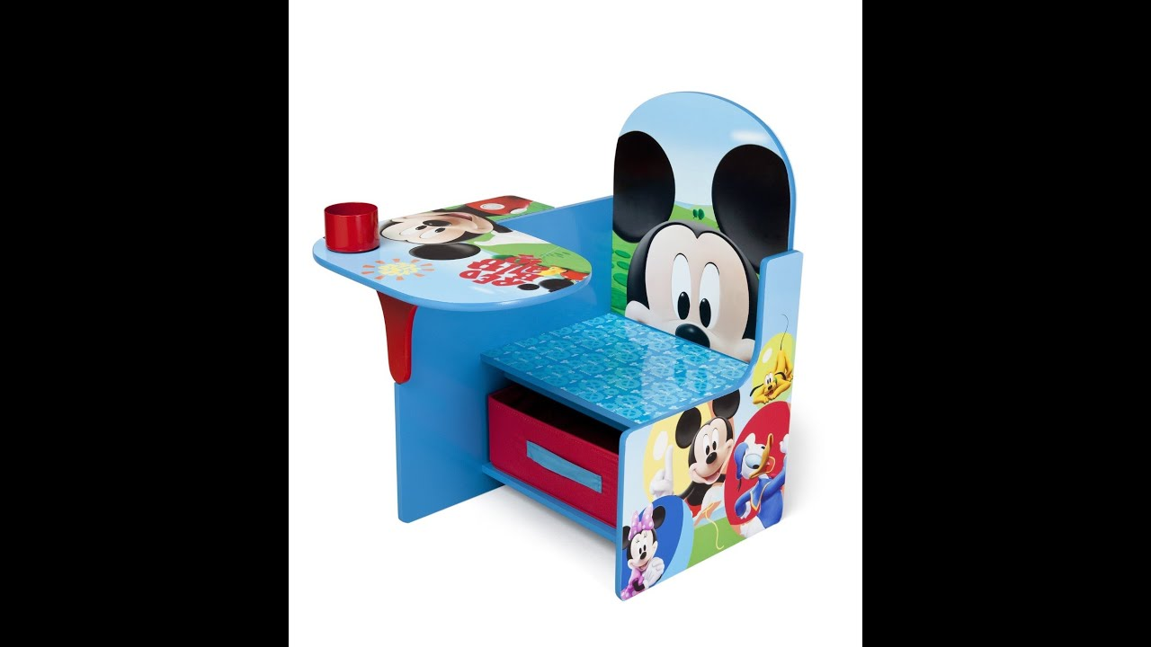 Disney Mickey Mouse Delta Children Chair Desk With Stroage Bin For ...