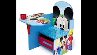 Disney Mickey Mouse Delta Children Chair Desk With Stroage Bin For Kids