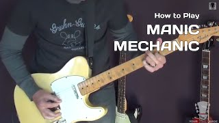 Manic Mechanic by ZZ Top - Guitar Lesson - How to Play