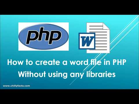 Create doc file in PHP without using any libraries