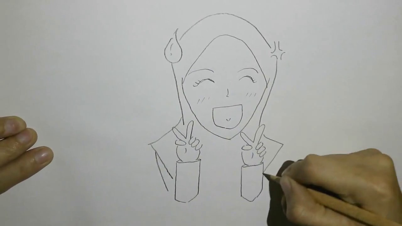 How to draw a muslim girl step by step easy drawing hijab girl