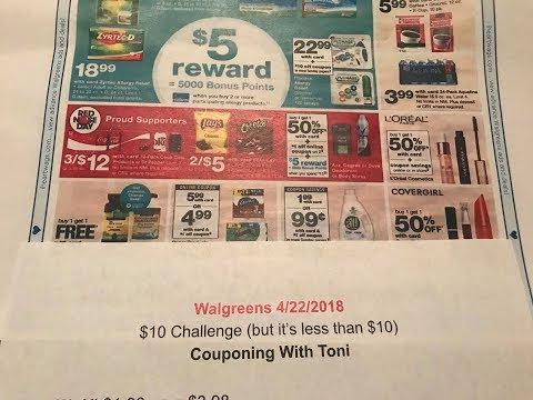 Walgreens $10 Challenge 4/22/18 - 4/28/18 (SUPER EASY + GOOGLE DOC)