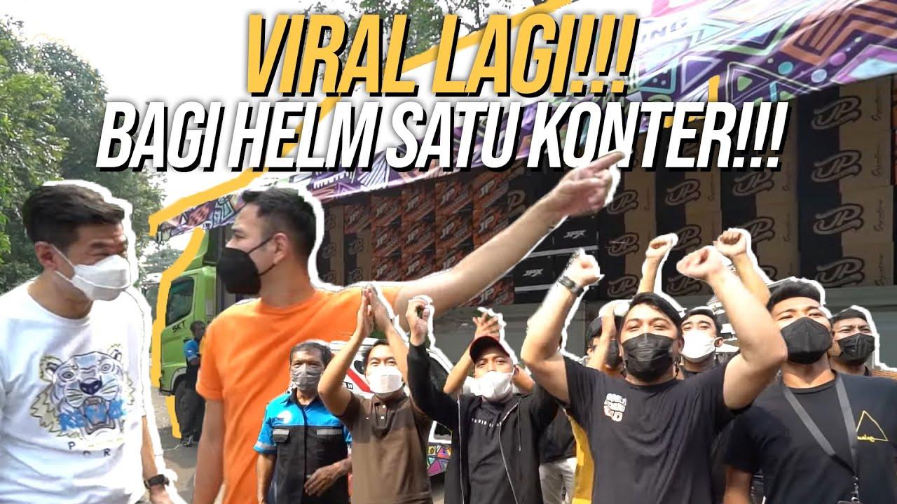 RAFFI BAGI HELM KE KARYAWAN!! LANGSUNG JALAN KE BALI!!! #RANSTOURINGBALI2
