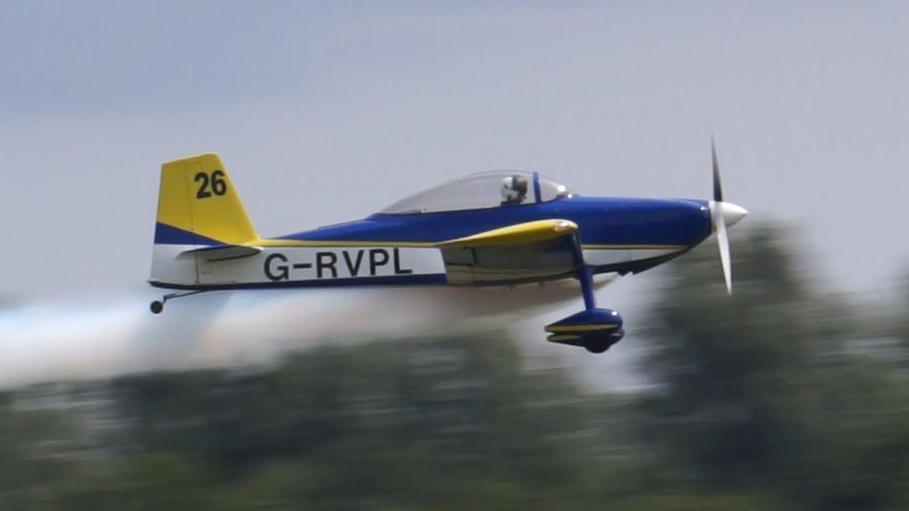 Vans RV8 at East Kirkby 4th August 2018