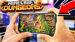 How to Play MINECRAFT DUNGEONS on YOUR PHONE for FREE! (iPhone & Android Mobile)