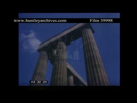 Edinburgh in the 1960's.  Archive film 39998