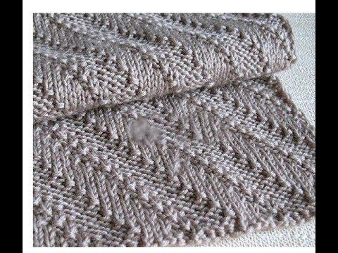 Узор вязания для шарфа мужского спицами