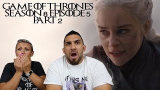 Game of Thrones Season 8 Episode 5 'The Bells' Part 2 REACTION!!