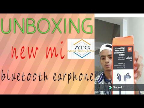 Unboxing Mi New Bluetooth Earphone  !abhi Tech Gyan! Tech Gyan! #abhi