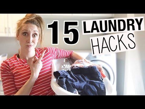 15 Laundry HACKS to make Laundry Faster + Easier! | Jordan