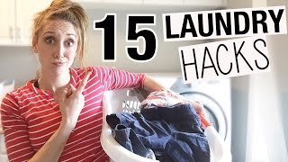 15 Laundry HACKS to make Laundry Faster + Easier! | Jordan Page