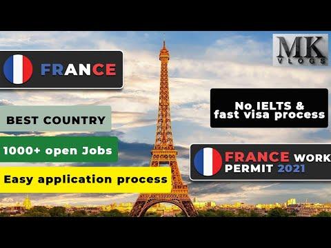FRANCE WORK PERMIT 2021 | FRANCE JOBS 2021 | LATEST FRANCE WORK VISA | FRANCE Residence permit 2021