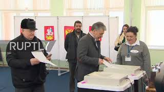 Russia: Communist Party's Grudinin Casts His Ballot In Presidential Election
