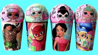 LOL Lil Outrageous Littles Dolls Pees Spits Cries Shimmer and Shine TOY SURPRISES PJ MASKS MOANA