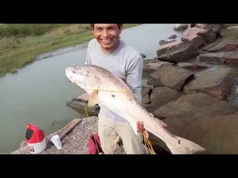 PESCANDO EN GALVESTON Tx Pescando Mi Primer Rojo