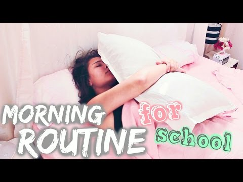 Ma MORNING ROUTINE pour les cours !