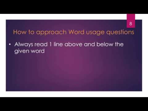 How to Approach Word Usage Questions - SAT