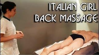 💆 Italian Girl Massage - ASMR no talking video 1/2