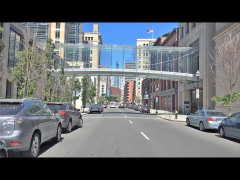 Driving Downtown 4K - Boston