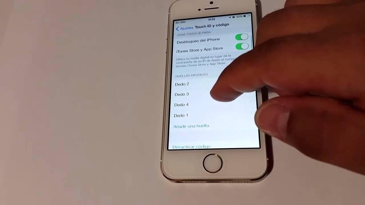 Iphone  Con Huella Digital