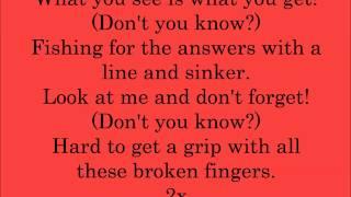 Line & Sinker- Billy Talent (lyrics)