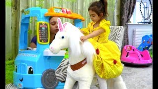 🦄Unicorn Cycle Ride On -Food Truck Play Kitchen