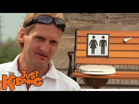 Park Bench Public Toilet Prank - Just Kidding - YouTube