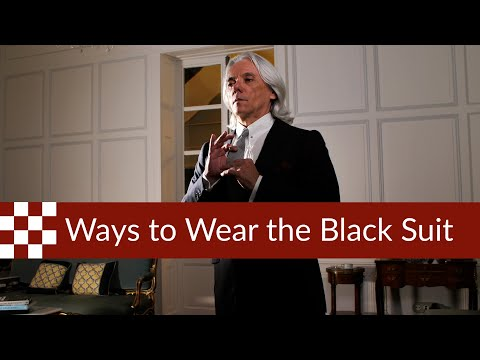 Ways To Wear The Black Suit