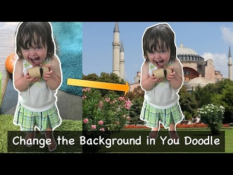 How to Change Image Background with You Doodle on iOS with iPhone or iPad