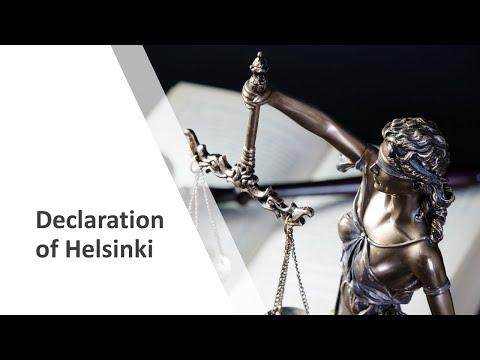 Declaration of Helsinki - World Medical Association Helsinki Declaration