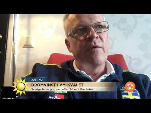 """Janne Andersson om drömsegern: """"Roligt att just Ola avgör"""" - Nyhetsmorgon (TV4)"""