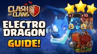 Learn How To Use Electro Dragon | Max Electro Dragon Max Balloon 3  Star Attack Strategy
