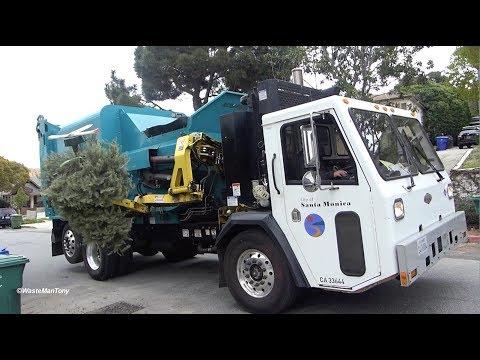 Scorpion ASL Garbage Truck Eating Christmas Trees