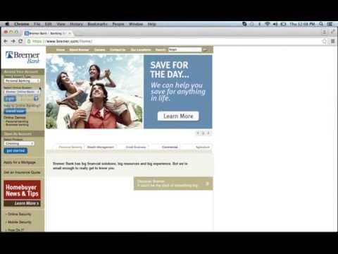 Bremer Bank Online Banking Login Instruction