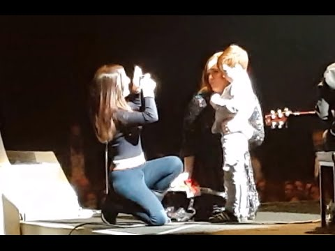ADELE & Young shy boy meet on stage - Manchester Tour