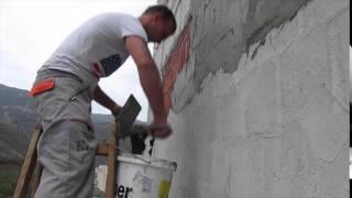 вилла Ирина, покрытие керам блока на стенах террасы 04.12.14(, 2014-12-05T06:26:58.000Z)