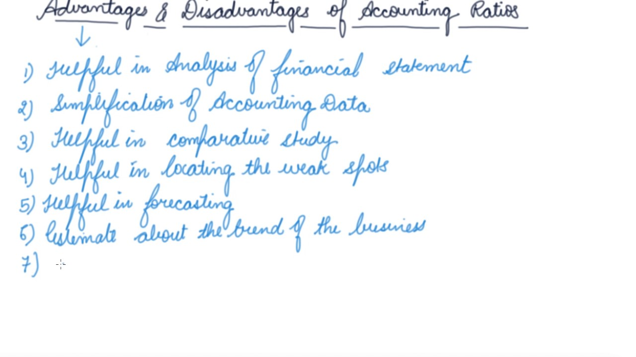 advantages and limitations of ratio analysis