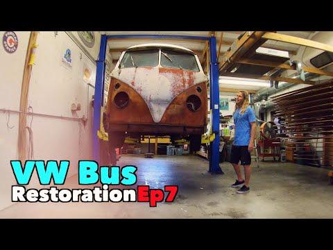 VW Bus Restoration - Episode 7! Getting Stripped! | MicBergsma