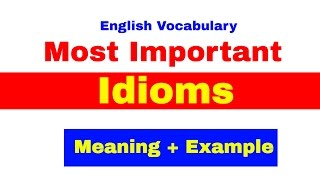 Most Important Idioms With Meaning And Example For Bank PO | SBI | IBPS | CAT [ In Hindi] Part -1