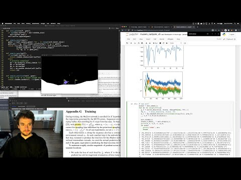 George Hotz | Programming | Fun with MuZero and MCTS on a lovely Sunday | CartPole | DeepMind AI